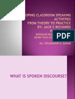 Developing Classroom Speaking Activities
