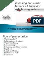 Assessing Consumer Preference of Sedans