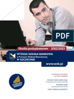 Informator 2012 - studia podyplomowe - Wyższa Szkoła Bankowa w Szczecinie