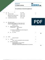 P1_3_usefulness of Electrical Appliances Mark Scheme