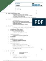 P1_4_generating Electricity Mark Scheme