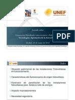 UNEF. Tecnologías-aportación fotovoltaica. Eduardo Collado