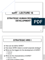 16. Strategic Human Resource Development i Slides