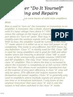 Transistorized Amplifier Repair