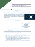 Bar Examination Political Law 2006