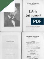 L'Arte Dei Rumori - Luigi Russolo (Art of Noise)