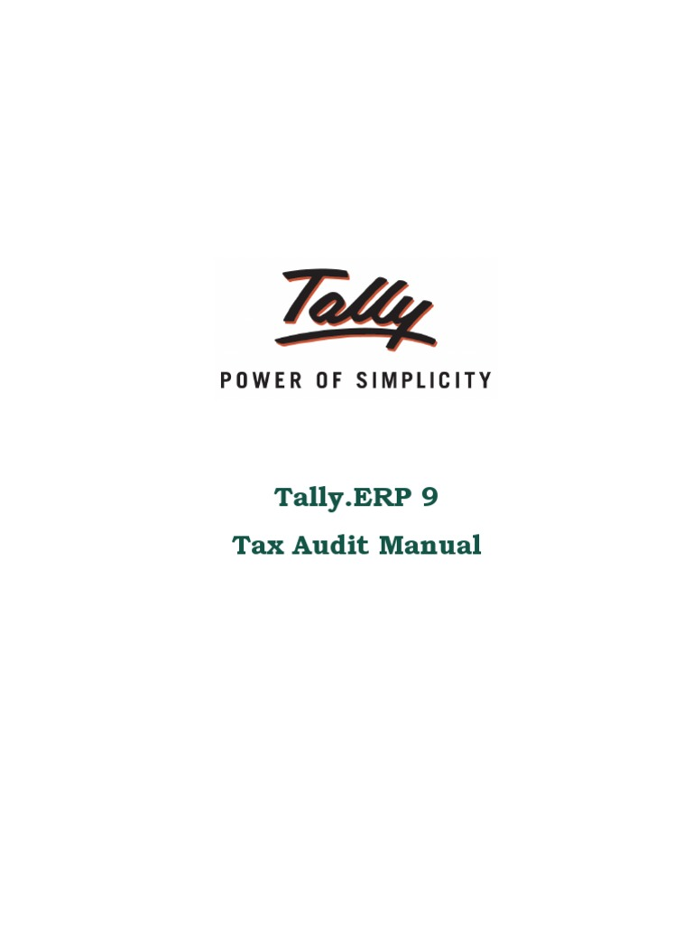 Tax Audit Manual | Tally Synchronization | College Management Software |  Tally Implementation Services | Audit | Financial Statement