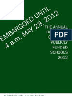 People for Education Annual Report 2012 - Embargoed Until 4am May 28 2012