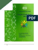 Punjab Youth Poilcy 2012 Dr Allah Bakhsh Malik