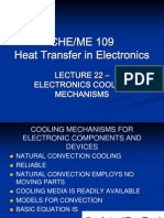 Lecture 22 - Electronics Cooling Mechanisms