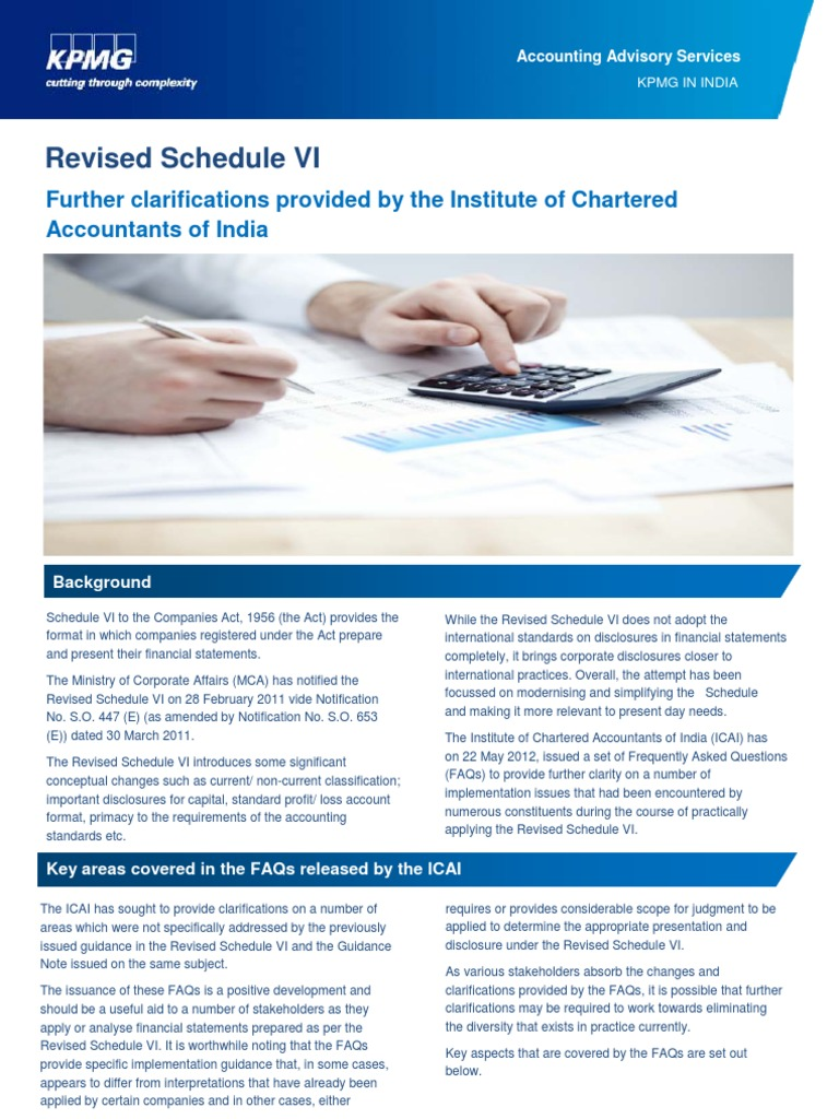 Revised Schedule VI - Clarifications by ICAI | Accounting | Loans