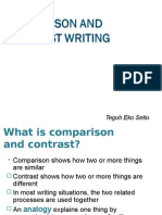 Comparison and Contrast Writing