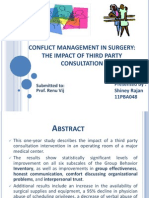 Conflict Management in Surgery ,,The Impact of Third Party Consultation