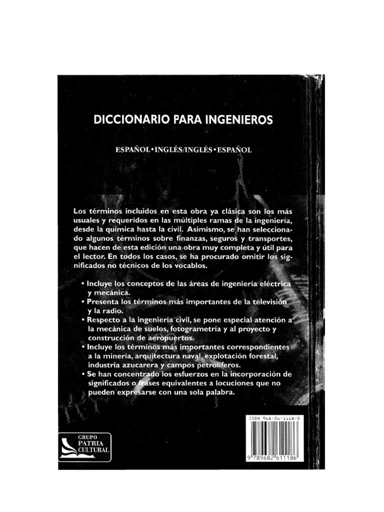 Diccionario Para Ingenieros Español Inglésinglés Español2