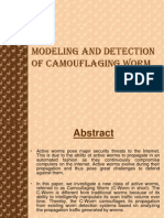Modeling and Detection of Camouflaging Worm