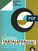 Cartea Instalatorului de Retele de Apa Si Canalizare