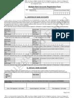 Multiple Bank Account Registration Form