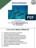Sedimentologia Tema 2 I-2012