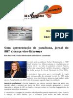 Com apresentação de paraibana, jornal do SBT alcança vice-liderança
