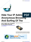 Hide Your IP Address For Anonymous Browsing And Surfing Of The