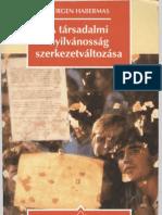 Jürgen Habermas - A társadalmi nyilvánosság szerkezetváltozása