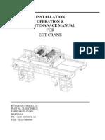 Manual for EOT Cranes
