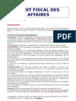 Droit Fiscal Des Affaires