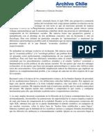 Diferencias Epistemológicas, Marxismo y Ciencias Sociales