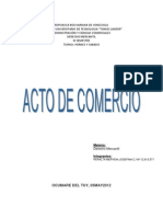 Acto de Comercio y Comisionista