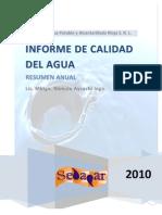 Informe de Calidad Del Agua - Anual 2010