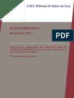 Alerta Mercantil Noviembre 2011 Nuevo Art 348 LSC