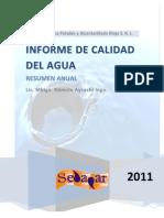 Informe de Calidad Del Agua - Anual 2011