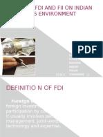 Fdi and Fii Presentation