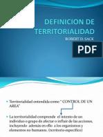 DEFINICION DE TERRITORIALIDAD