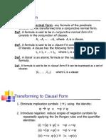 First Order Logic Resolution