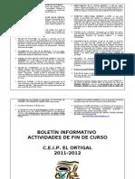 Boletin de Actividades de Fin de Curso 2011-2012