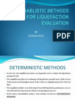 Probablistic Methods for Liquefaction Evaluation