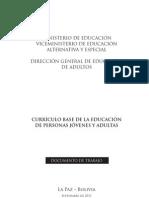Curriculo Base de La Educacion de Personas Jovenes y Adultas