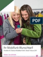 Preisliste Fuer Telekom Mobilfunk Tarife Februar 2011
