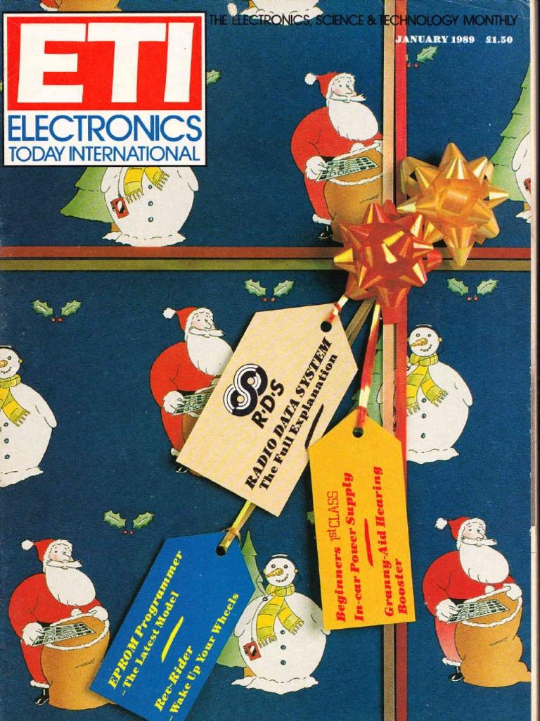 Electronics Today International January 1989 Radio Transmitter Fm Circuit Schematic And Board Bbg 1 2 Watt Vhf