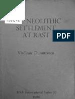 Dumitrescu - Late Neolithic Settlement at Rast