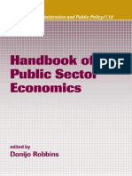 Handbook of Public Sector Economics