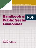 Handbook of Public Sector Economics