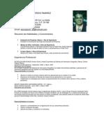 Jose Feliciano Garrido Ramirez Curriculum