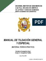 MANUAL DE TILDACIÓN GENERAL Y ESPECIAL
