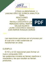 REACCIONES(QUIMICA ANALITICA)