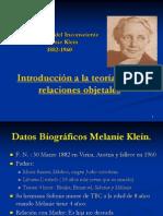 Melanie Klein Exploracion Del Inconsciente