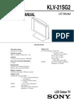 KLV-21SG2 Service Manual