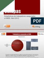 Estadísticas IMSS Abril 2012