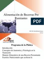 ALIMENTACIÓN BECERRA PRE RUMIANTE, UPAEP, 2012